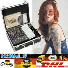 Taetowiermaschine 4 Gun 7 Inks Tattoomaschine Satz Kit Tätowierung Nadeln DHL