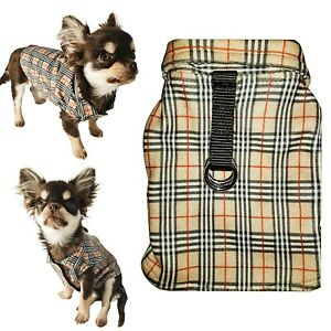 Furberry Designer Tartan Fleece Dog Coat Clothes Chihuahua Puppy XXXS XXS XS