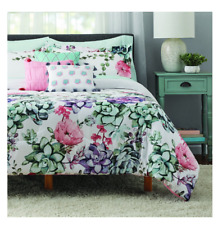 New 10 Piece Jade Floral King Size Comforter Set Bed in a Bag Sheets Bedding