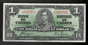 BANK OF CANADA 1937 $1 ONE DOLLAR Coyne-Towers S/N Prefix