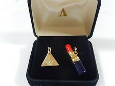 VERSACE NEW IN BOX 2 BRACELET CHARMS LIPSTICK AND TAG