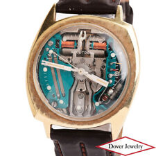 Vintage Bulova Accutron 14K Gold Elegant Leather Men's Watch NR