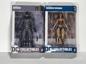 DC Essentials Action Figure LOT of 2 Wonder Woman Justice League Batman