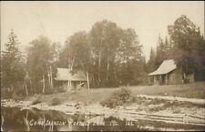 Portage Lake ME Camp Iberson c1910 Real Photo Postcard