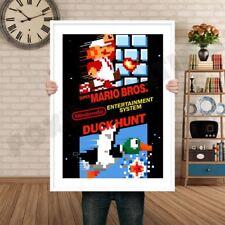 Super Mario Bros Duck Hunt Retro GAME INSPIRED THEME Nintendo NES Gaming A4 A3 A