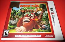 Donkey Kong Country Returns Nintendo 3DS  Factory Sealed! Free Shipping!!