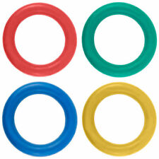 Tennikoit Ring Garden Throwing Game Sponge Assorted Colour Rubber Quoits Pk Of 4