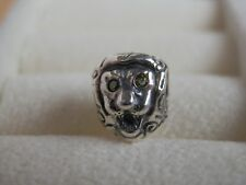 BN GENUINE PANDORA RAREST RETIRED CITRINE EYE LION HEAD CHARM -790443CZY