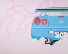 NISSAN SKYLINE R34 GTR PAINTING JDM CAR CULTURE GAIJIN ARTS JAPANESE CLASSICS