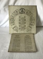 Genuine Antique Admiral Fitzroy Barometer Silver Printed Card Gauge For Restorer
