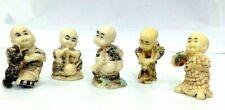 Epoxy Resin Netsuke Figurine Set of 5