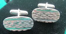 made W. Germany Bark Effect Silver cufflinks