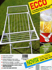 ECCO Stendibiancheria-stendino PVC antiurto grande sviluppo 16mt. per bucato