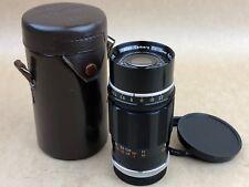 Canon RF 135mm F/3.5 Black M39 Screw Mount Lens LTM # 73167 w/ Leather Case