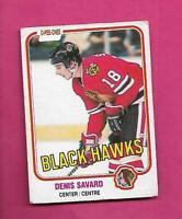 1981-82 OPC # 63 HAWKS DENIS SAVARD ROOKIE GOOD CARD (INV# D2025)
