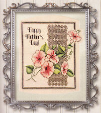 """FLORAL BLISS"" CROSS STITCH PATTERN MOTHER'S DAY BLACKWORK"