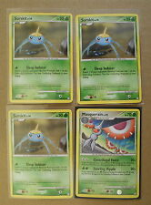 Masquerain 55/123 & 3x Surskit 104/123 Pokemon TCG card DP Mysterious Treasures