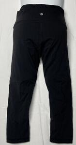 "Lululemon Womens Leggings Size 6 Black Yoga Pants Inseam 21.5"" NWOT"