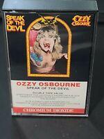 OZZY OSBOURNE Speak Of The Devil CASSETTE Tape CANADA CrO2 CBS Records b19