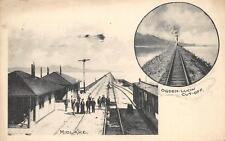 Midlake, Ogden-Lucin Cut-Off Railroad Station Utah Depot Vintage Postcard 1908