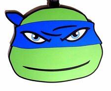 NEW! TMNT Ninja Turtles Leo Leonardo Blue Luggage Bag Tag BIG 3.5 x 4.5 in RARE