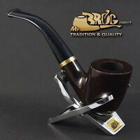 "ECCEZIONALE Mr.Brog originale pipa pipe erica bruyere marrone Nr. 90 ""STEWARD"""