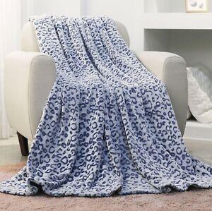 Lightweight Soft Flannel Fleece Blanket 3D Print Multi Sizes All Season Blue
