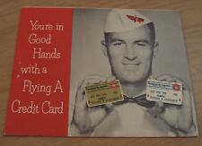 "1950's 'Tidewater Oil Company' ""Flying A Credit Card' Application~"