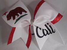 Cheer Bow Cali Flag by BlingItOnCheerBows