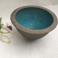 STUDIO POTTERY BOWL Blue RAKU Geoff Townsend