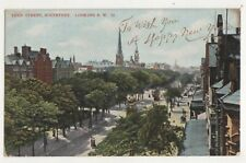 Lord Street Southport Looking SW New Year Vintage Postcard Lancashire 718b