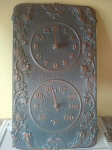 Whitehall Clock And Thermometer Indoor Outdoor Bronze