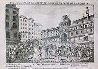 Prise de la Bastille Juillet 1789 Place de Grève Révolution Française Paris
