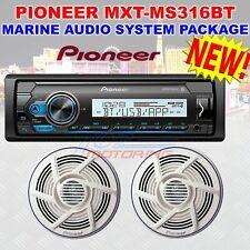 PIONEER MXT-MS316BT MARINE AUDIO SYSTEM PACKAGE DIGITAL MEDIA RECEIVER  SPEAKERS