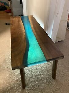 Epoxy River Table Top Black Walnut Handmade
