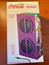 Coca Cola Universal 3.5mm Stereo Speaker AUX IPhone Android Purple Comic Coke A3
