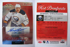 2013-14 Fleer Showcase #145 Zemgus Girgensons 19/27 red glow RC auto Rookie