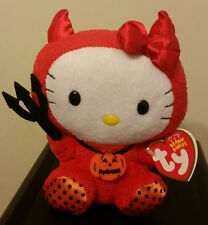 Ty Beanie Baby ~ HELLO KITTY in RED DEVIL COSTUME - MWMT