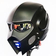 Casco Wing Motorcycle Open Face Helmet Matte Black Light Custom Hero Rare Moto