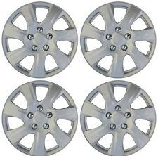"4 pc NEW Universal HubCaps ABS Silver 16"" Inch Wheel Cover Hub Caps Covers Cap"