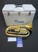 King 1124 Ultimate Series Marching Baritone Horn, Factory Closeout, Auth Dealer