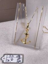 GoldNMore: 18K Gold Necklace And Pendant 18 inches chain TPOG
