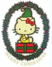 Original Vintage Sanrio Hello Kitty Christmas Holiday Iron On Transfer