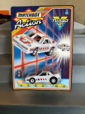 Matchbox Action Turbo 2 1987 Pontiac Fiero White New And Sealed