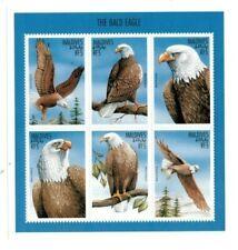 VINTAGE CLASSICS - MALDIVES 9705 - Bald Eagles - Sheetlet of 6 Stamps - MNH
