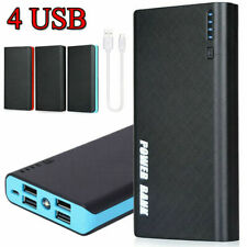 4 USB 900000mAh Portable Backup External LED Power Bank Battery Pack Charger
