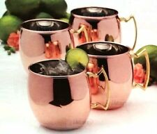 Set of 4 Mikasa Solid Copper Moscow Mule Mugs Cup | 473ml | Brand New1