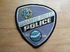 PATCH POLICE GRANITE FALLS NORTH CAROLINA NC  STATE