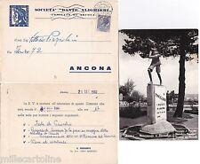 # ANCONA: MONUM. A PINOCCHIO CON INVITO ALLA FESTA DI PINOCCHIO 1960