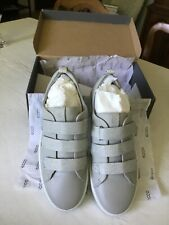 ECCO Women's Soft 8 Sneaker Shoes 3 Strap Concrete/Wild Dove EU 40 US 9-9.5 NIB